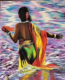 """Cuadro al óleo""""En el rio sagrado"""""""