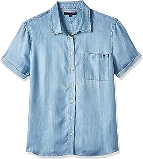 Tommy Hilfiger Women's Ww0Ww22601-Blue Shirts