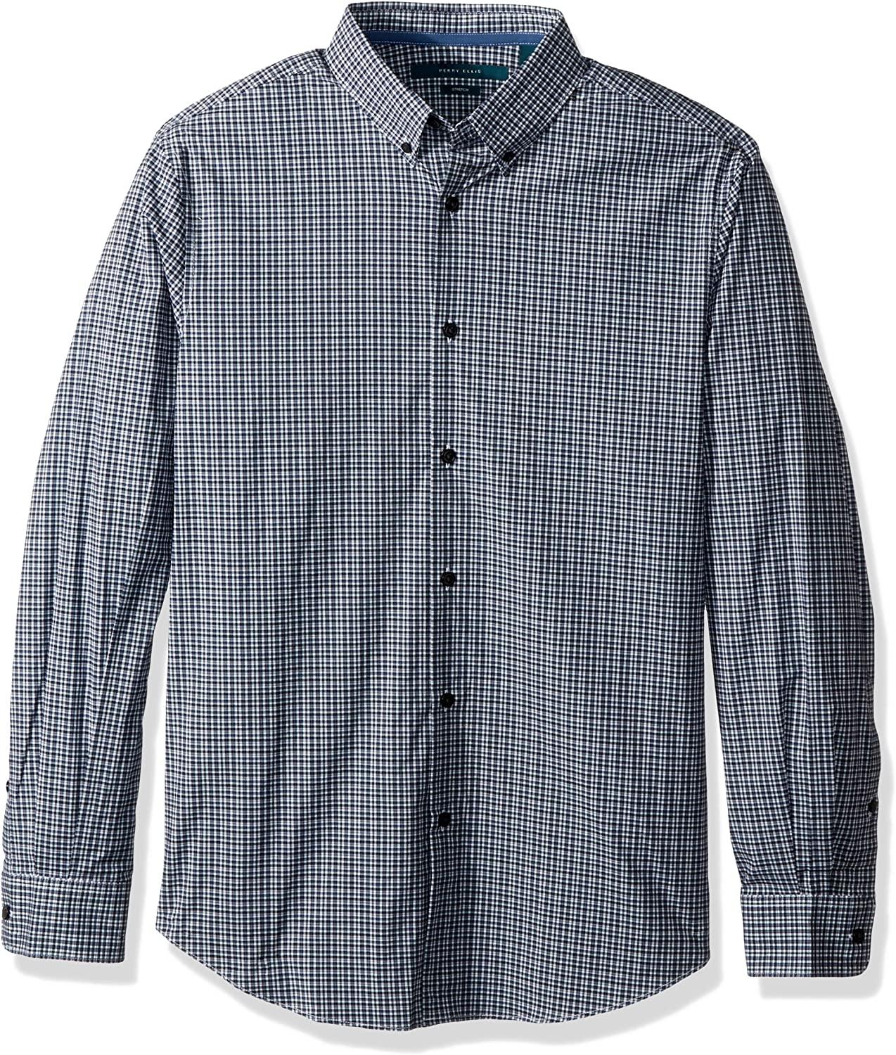 Perry Max 80% OFF Ellis Men's Long Sleeve Multi Shirt Color Check Genuine Free Shipping