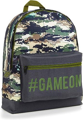 CityComfort Cartable Garcon CP, Sac A Dos Gamer Camouflage Et Jeux Video pour Grande Section Maternelle, Ecole Primai...