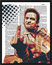 Johnny Cash photo Man in Black Dictionary art print wall decor 8x10