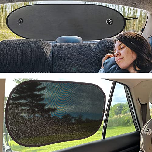 """discount EcoNour Gift Bundle   Sun Shade for Back Car Window (39""""x17"""") + Side Window Shades for Car Windows 21"""" x outlet online sale 14"""" (2 Pack)   Baby Car Shades for Complete Sun Protection   Sun Shield for sale Car Windows Baby outlet online sale"""