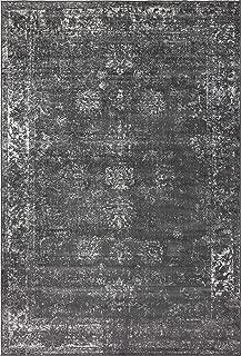 Unique Loom 3134052 Sofia Collection Traditional Vintage Beige Area Rug, 4' x 6' Rectangle, Dark Gray