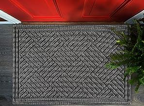 Volkom Heavy Duty Door Mat, Indoor Outdoor Durable Doormat, 35 x 23, Low-Profile, Waterproof Rubber Welcome Rug for Front ...