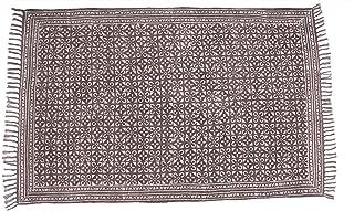 Jaipur Handloom Indian Area Rug Handmade Rag Rug, Carpet Runner, Large Multicolor Colorful Indian Dhurrie, Floor Mat Bohemian Boho Decorative Accent Weave Rag Rug (3 X 5 ft (91 X 152 cm), Multi_11)