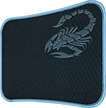 RiaTech Mouse Pad with Scorpio Print, Antifray Stitched Embroidery Edges, Water Resistance Coating Non-Slip Rubber Base Mousepad for Laptop, Computer, PC Office & Home (295mm x 230mm x 2mm) - Black with Grey Border