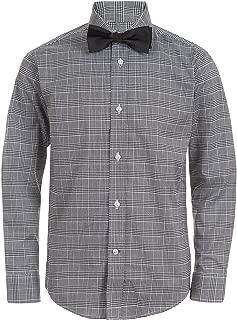 Boys' Long Sleeve Dress Shirt with Bow Tie