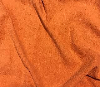 Persimmon Orange - Hand Dyed Silk Noil Fabric
