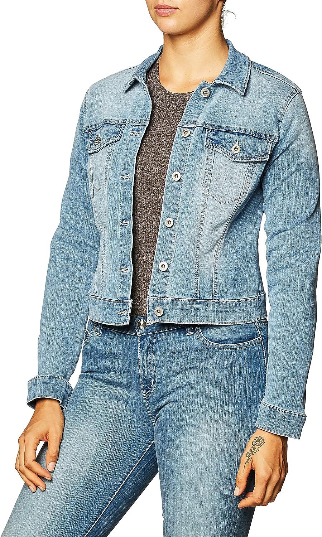 Jessica Simpson Women's Plus Size Pixie Classic Feminine Fit Crop Jean Jacket