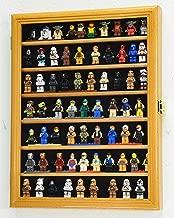 sfDisplay.com,LLC. 70 Lego Men/Legos/Mini Figures Minifigures/Display Case Cabinet with Adjustable Shelves (Oak Finish)