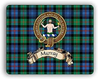 Murray Scottish Clan Atholl Tartan Crest Computer Mouse Pad