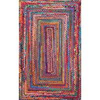 Overstock.com deals on The Curated Nomad Grove Handmade Braided Cotton Area Rug 2x3-ft