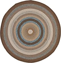 Safavieh Braided Collection BRD313A Hand Woven Brown and Multi Round Area Rug (4' Diameter)