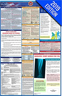 2019 Florida Labor Law Poster – State, Federal, OSHA Compliant – Single Laminated Poster