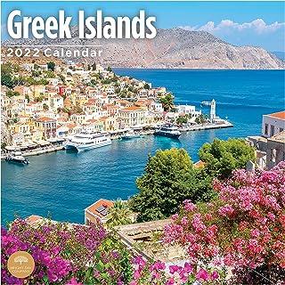 2022 Greek Islands Wall Calendar by Bright Day, 12 x 12 Inch, Island Travel Destination