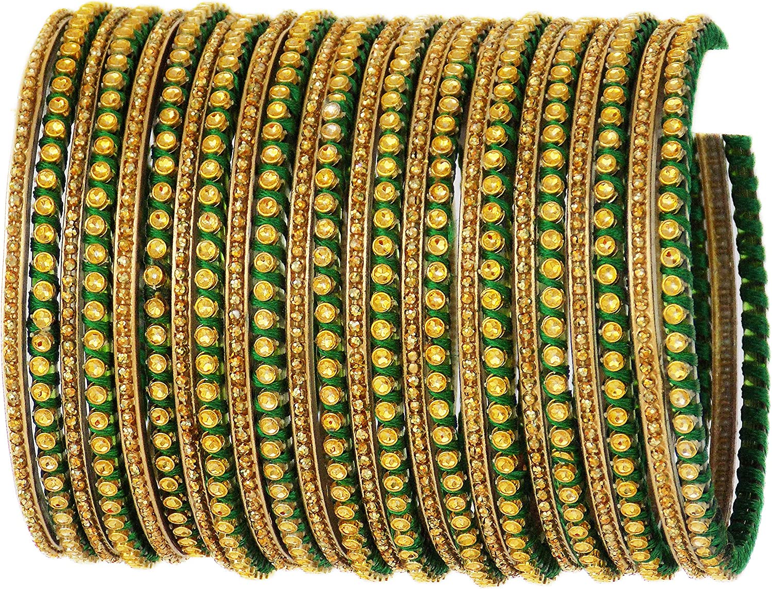 JD'Z COLLECTION Indian Glass Bangles Set Glass Bangle Set for Girls & Women Traditional Bollywood Fashion Jewelry Set of 24