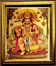 ADA Handicraft Wood Wall And Pooja Photo Frame (35 x 25 cm, Golden)