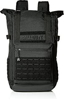Bioworld Men's Call of Duty Black Military Roll Top Backpack W/Laser Cuts