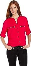 women's zip front blouse