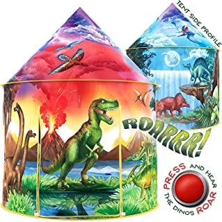 W&O Dinosaur Discovery Kids Tent with Roar Button, an Extraordinary Dinosaur Tent, Pop Up Tent for Kids, Dinosaur Toys for...