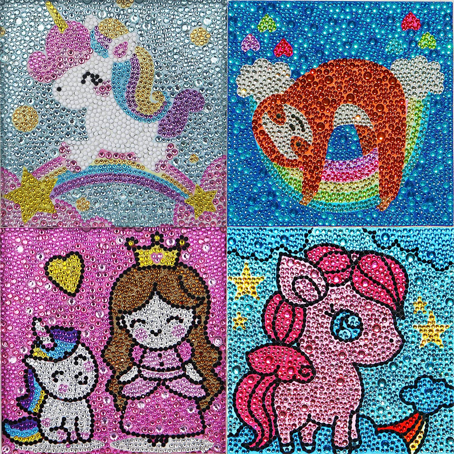 TOTATNON 4 Piece Special price 5D Diamond Painting Kid for At the price Gift Kids Easy Kit