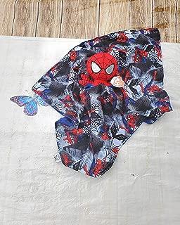 Lovey Spider man Plush Security Blanket, Cotton Spider man Print, Baby Lovey