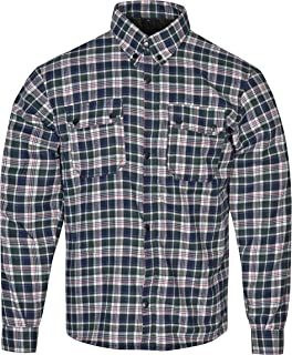 Gentry Choice Bikers Motorcycle Riding Shirt Reinforced with Dupont Kevlar Multi Color Checked