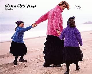 Classic Elite Yarns Knitting Pattern #405 Bonnet Point Braids - La Gran Mohair, Child, Adults