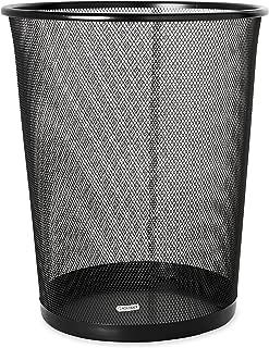 Rolodex Mesh Round Wastebasket, 11-1/2 Diameter x 14-1/4 H, Black (22351)