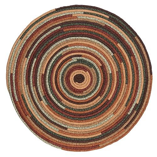 8 Ft Round Green Braided Rug Amazon Com
