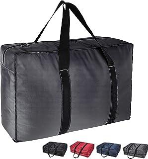 DOKEHOM 130 l pogrubiona XL torba do przechowywania ubrań z zamkiem błyskawicznym, odporna na wilgoć (ciemnoszary, XL)']