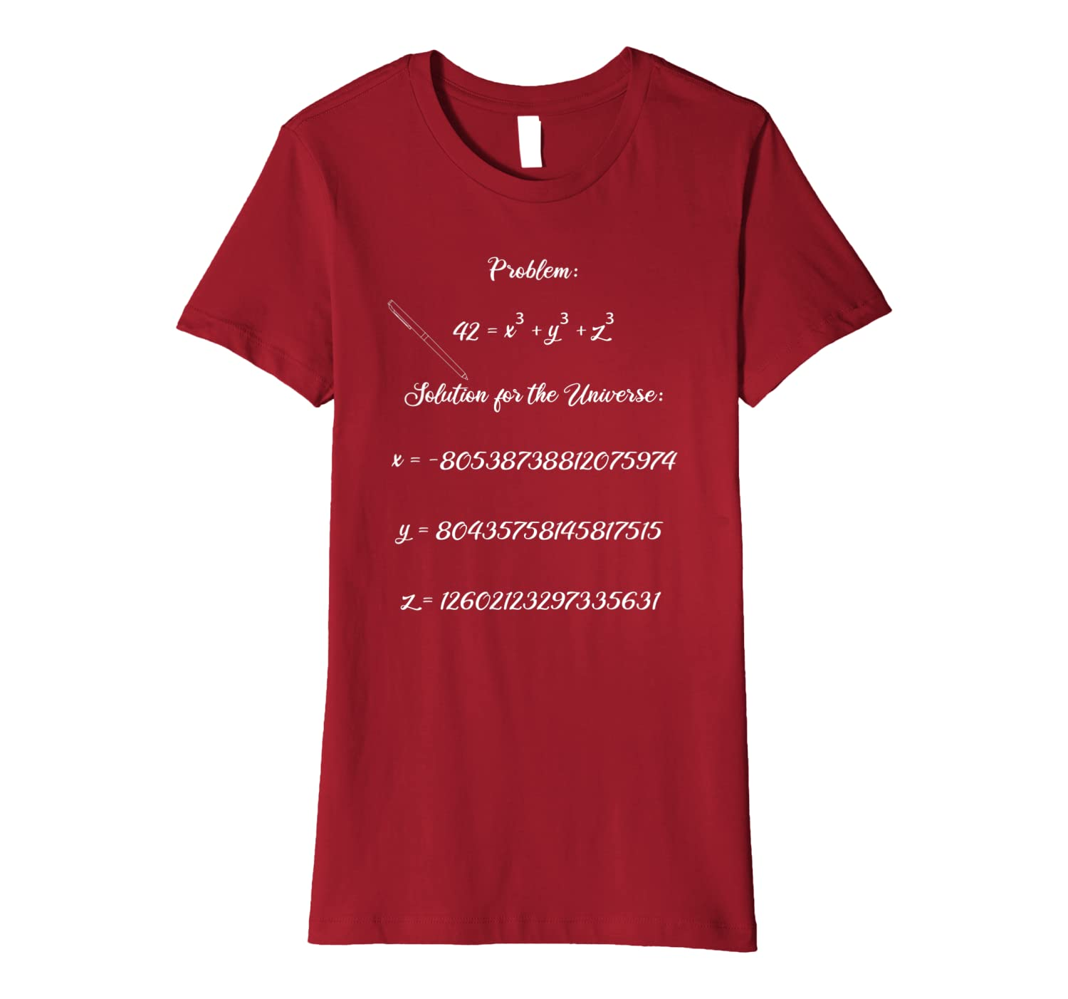 42 Solution for the Universe Math Science Nerd Gift Premium T-Shirt