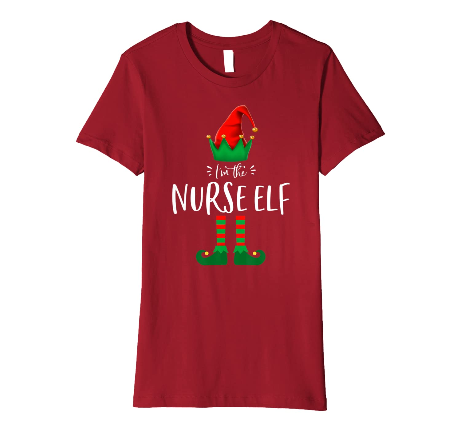 I'm The Nurse Elf Funny Matching Family Group Christmas Gift Premium T-Shirt