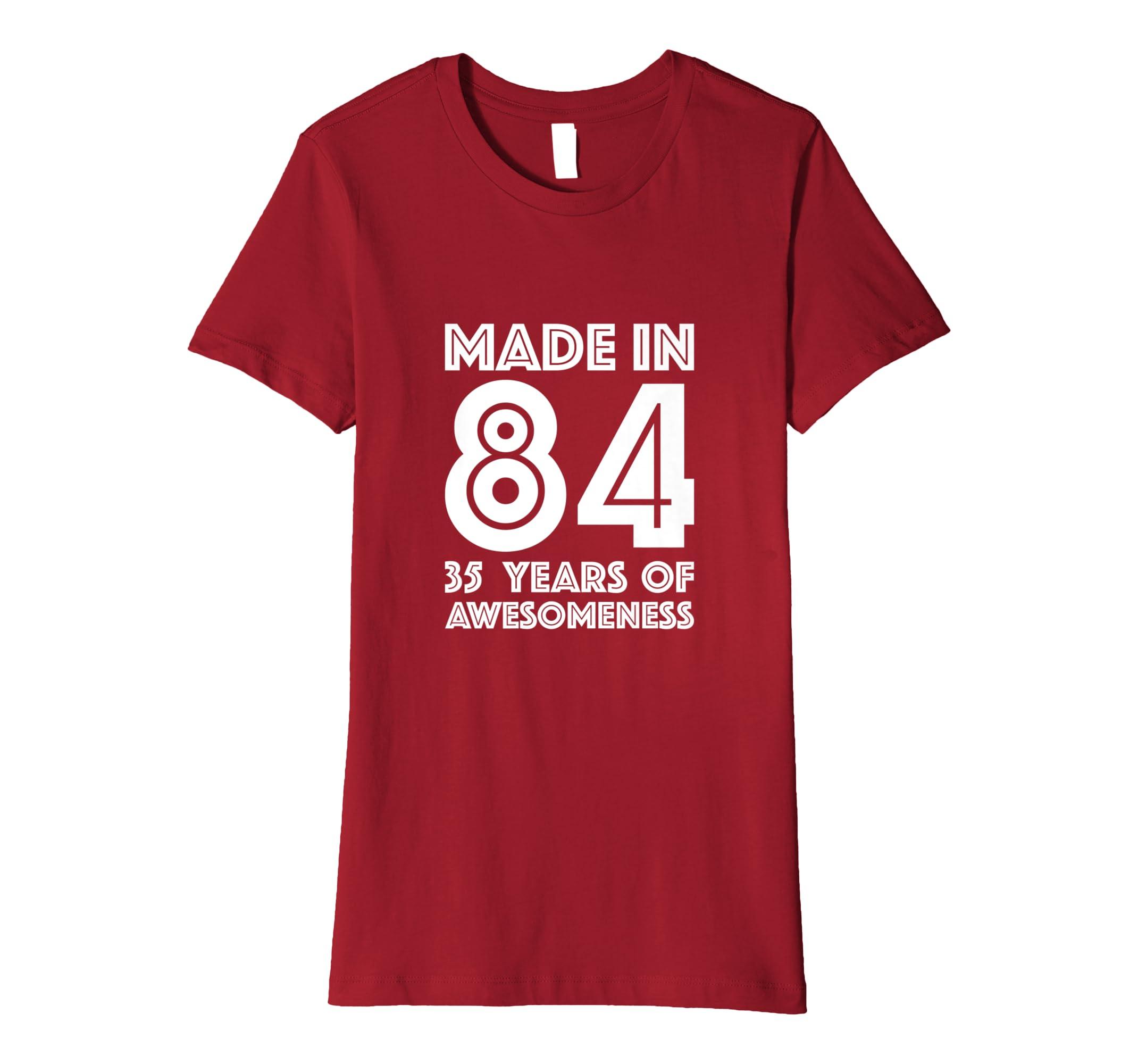 Amazon 35th Birthday Tshirt Men 35 Year Old Women Gifts Thirty Five Clothing