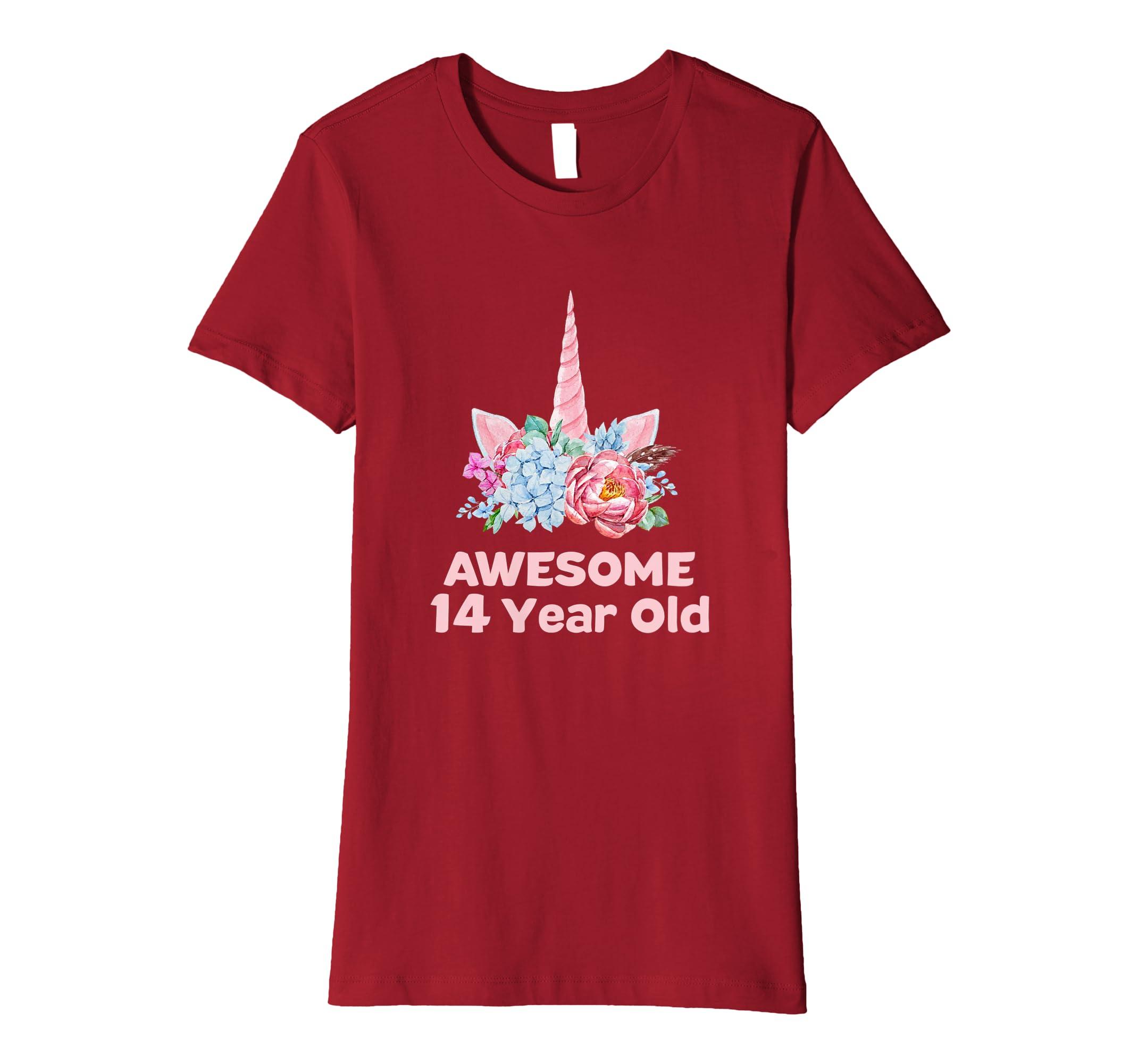 Amazon 14th Birthday Unicorn Tshirt Girls 14 Year OId Niece Gifts Clothing