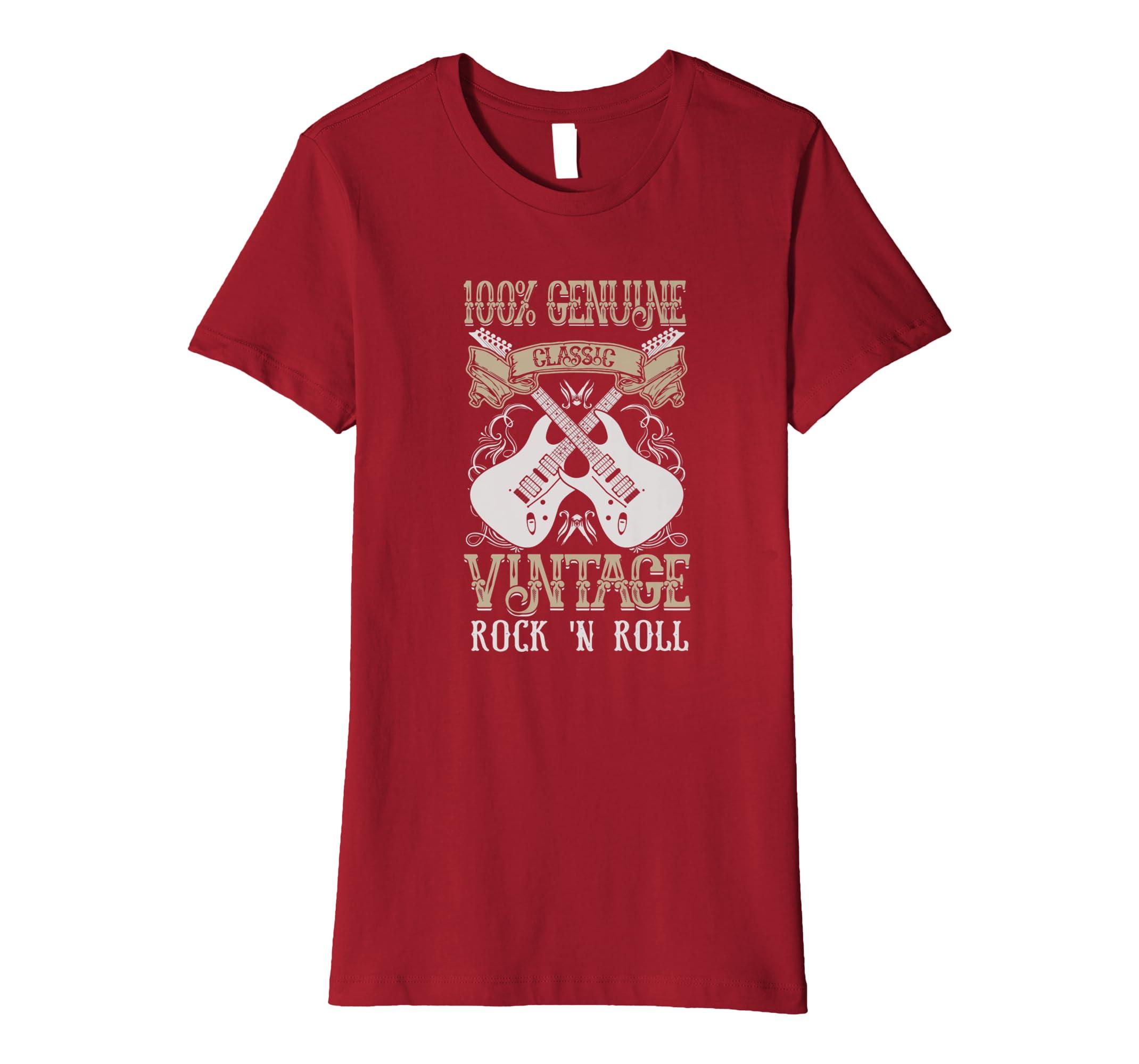 d160830d Amazon.com: Classic Vintage Rock and Roll Guitars T Shirt Guitar Music:  Clothing