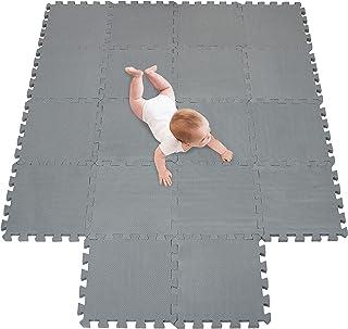 meiqicool Alfombra Puzzle Infantiles Suelo de Espuma EVA | Tapete de Juego | Alfombra Suave para Bebé | Alfombra Goma eva Bebe Manta Juegos Gris 12