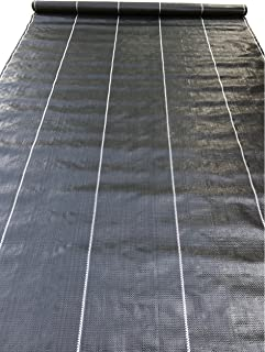 Weed Barrier Landscape Fabric Woven Weed Block Uv Resistant Professional Grade 3.24 oz (6 x 300 ft, Black)