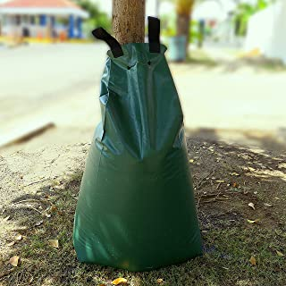 JM GARDENS - Tree Watering Bag 20 gallons, Slow Release Watering Bag, Automatic Drip Irrigation System, Durable PVC Materi...