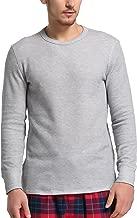 CYZ Men's Cotton Rib Knit Long Sleeve Crew Neck T-Shirt