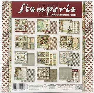 "Stamperia Mini bloc Papier Scrap double Face 10 feuilles 20.3X20.3 (8""X8"") - Alice multicolore SBBS01"