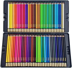 Deluxe Colored Pencils Kit -72 Bright Colors -Pack includes Case & Coloring eBook - Great Gift for Creative Children and Adults -Design, Draw, Blend, Smooth, and Sketch with these Pencils
