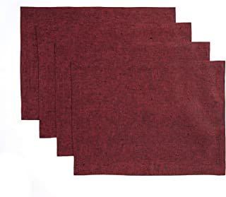 Best solid red placemats Reviews