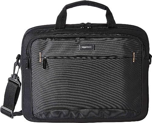 Amazon Basics Sac à bandoulière compact pour ordinateur portable avec poches de rangement pour accessoires (14 pouces...