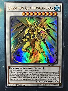 Yugioh Crystron Quariongandrax RATE-EN046 Ultra Rare 1st Edition Raging Tempest Card