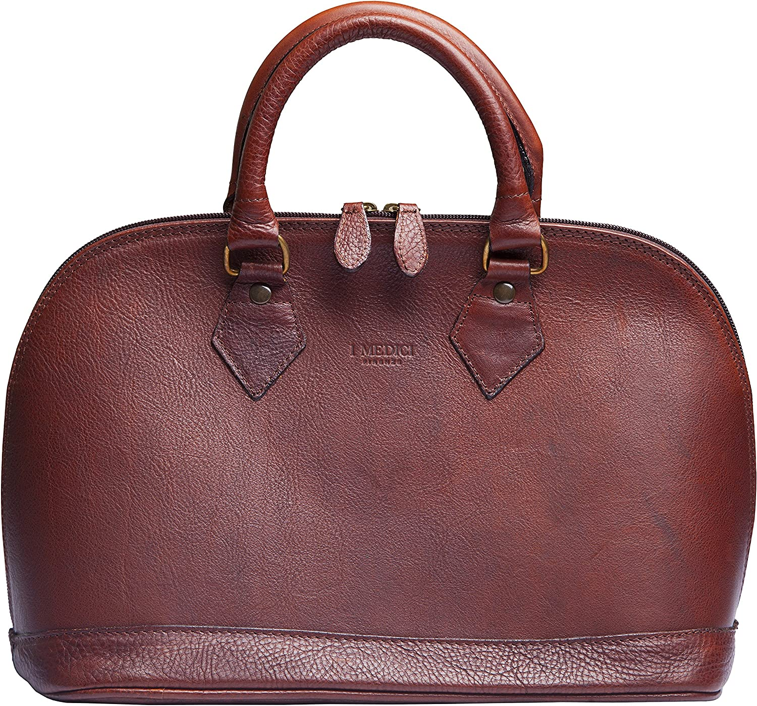 Italian Leather Handbags By I Medici  Brown 2500