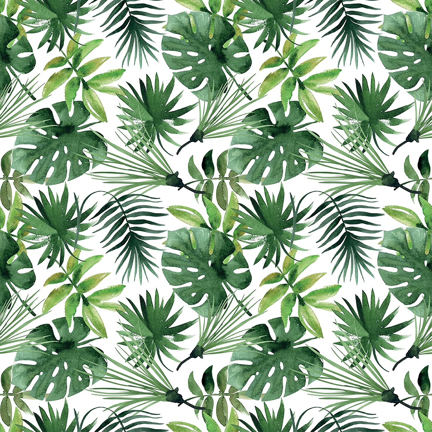Home Decor Line CR-68403 Tropical Premium Window Film, Green