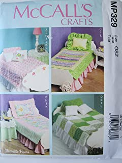 McCall's Crafts Pattern MP329 Bed, Mattress and Bedding Ensemble for 18