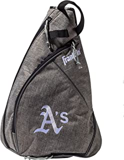 Franklin Sports MLB Team Licensed Crossbody Slingbak Baseball Shoulder Bag for Men & Women