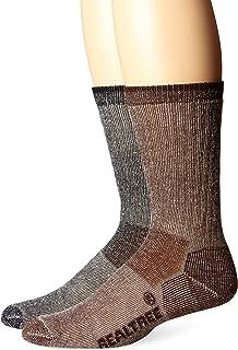 Realtree AP Men's Merino Wool Boot Socks (2-Pair), Brown/Black, Large